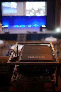 The projectors.