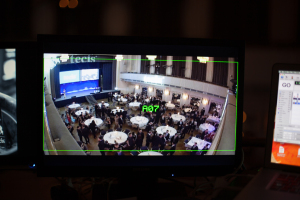 The preview showing the Sony's HDR AS100V view.