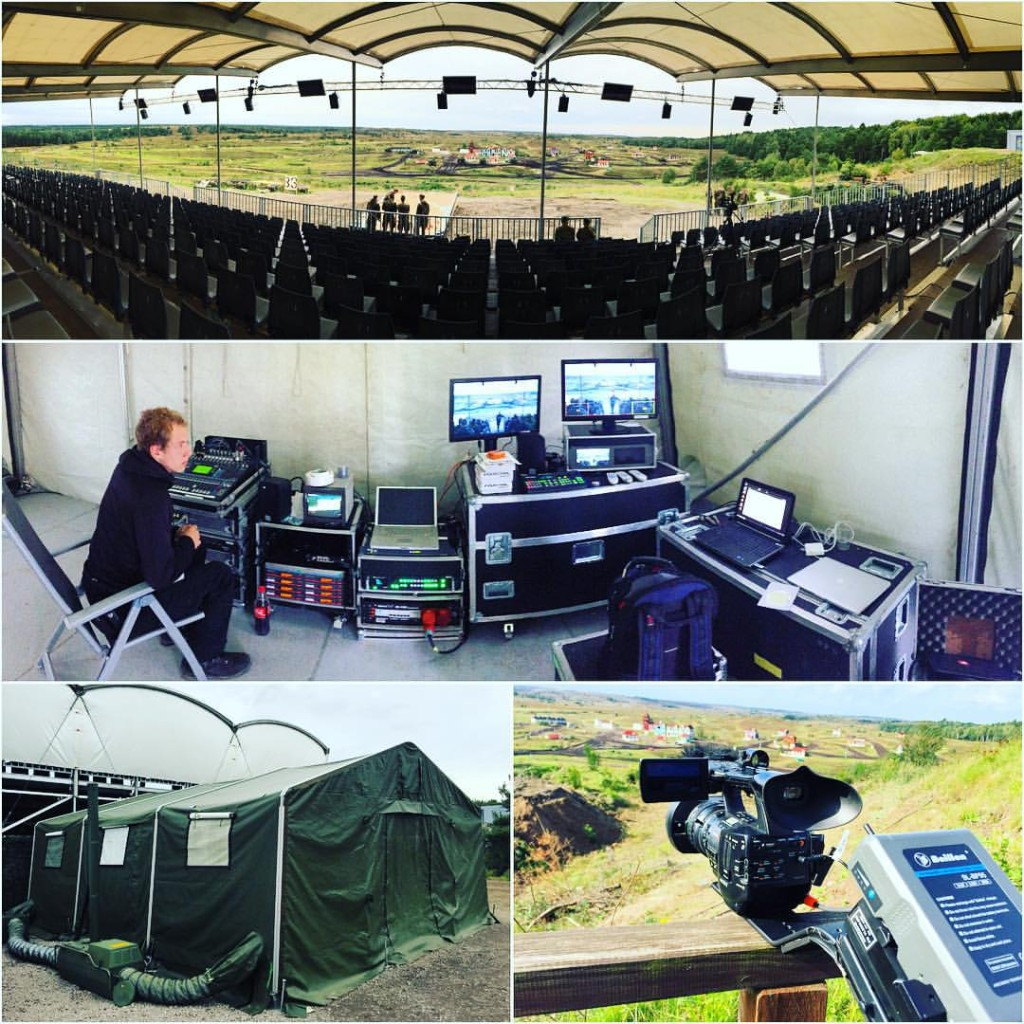 Working at the German army's ILÜ event over the …