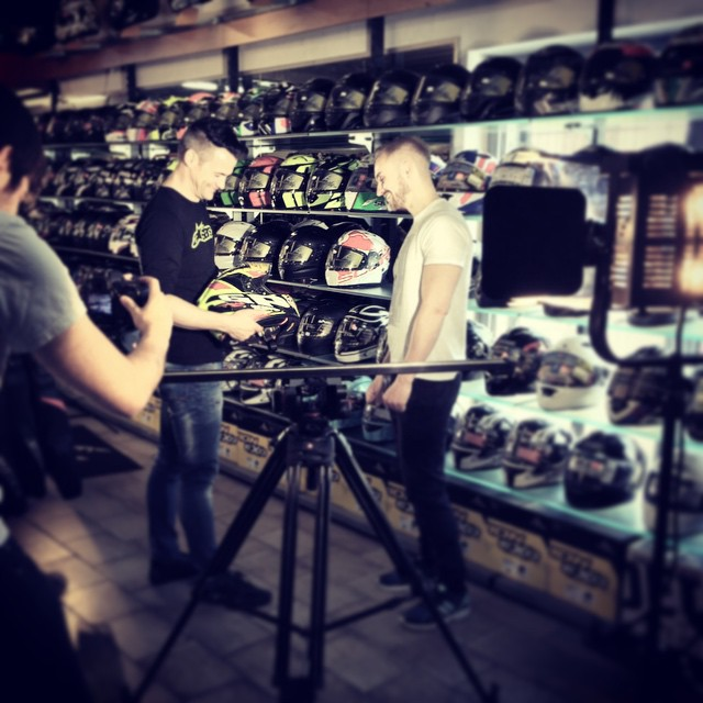 Shooting something for GP MOTO today #video