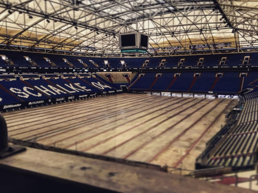 Recording sound at the Veltins Arena for an …