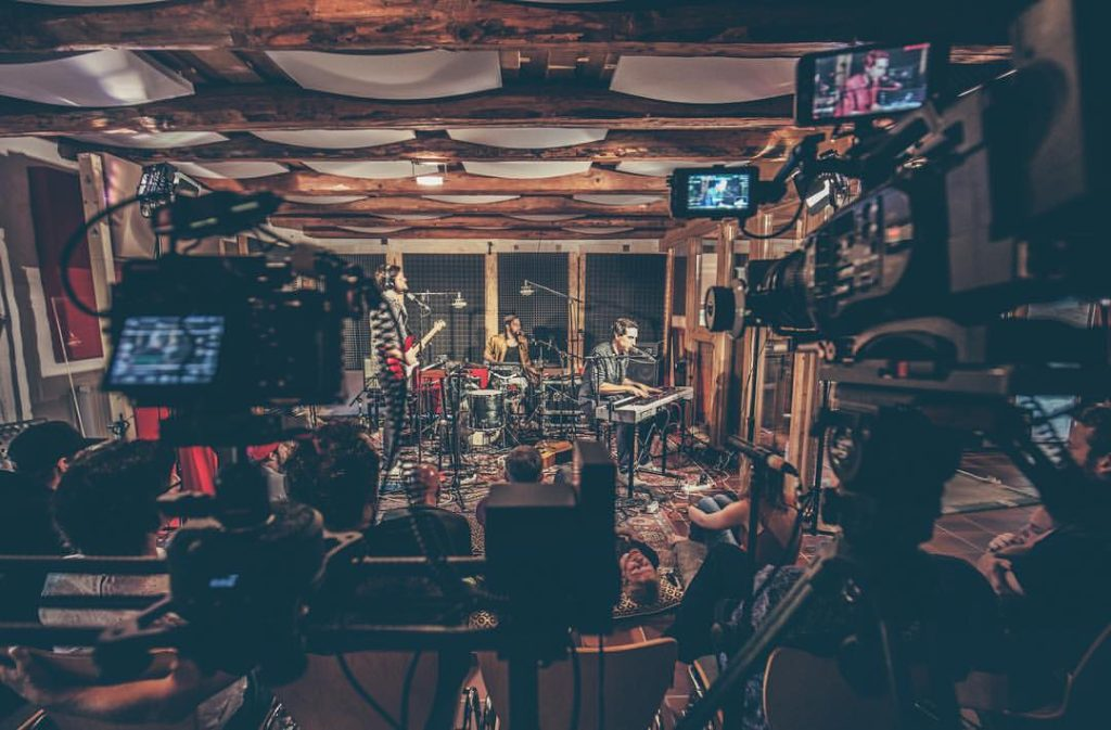 Filming Van Deyk yesterday at a studio concert at …