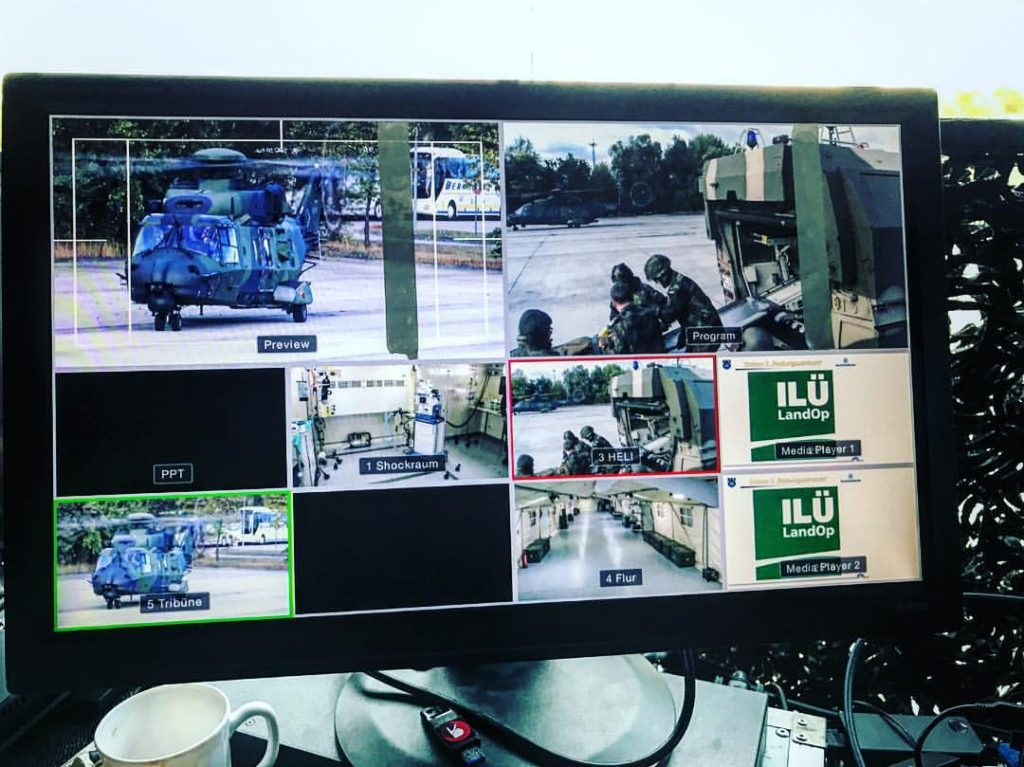 Live video and big army helicopters