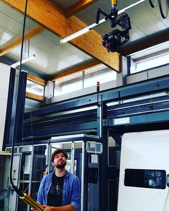 "The true meaning of ""camera crane""… #dji #roninm …"