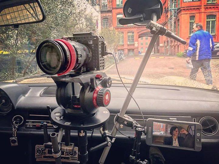 Filming a music video for Barrenstein in Berlin.  …