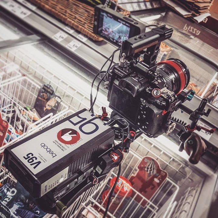 Shooting interviews in grocery stores.  …