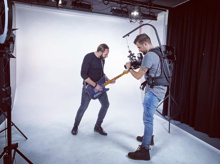 Shooting a new music video for Kompass at …
